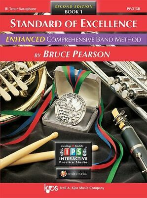 Bruce Pearson: Standard of Excellence Enhanced Book 1 Tenor Sax + Audio - Kjo...