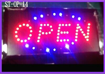 Animated LED Neon Light Business OPEN Sign with On/Off Motion Switch