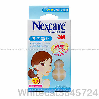 3M Nexcare Acne Dressing Stickers Patch Ultra Thin 30 Patches