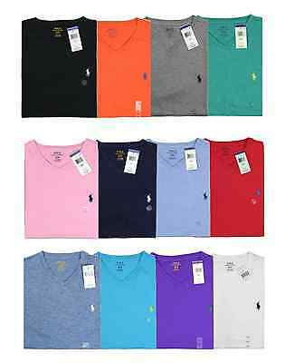 New V Neck Tee Shirt NWT Polo Ralph Lauren Men Classic Fit & Standard Fit Size