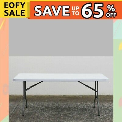 Folding Trestle Table 180cm Portable Picnic Blow Moulded Table