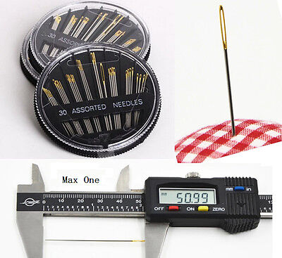 Assorted Hand Sewing Needles Embroidery Mending Craft Quilt Sew Case 30PCS  EY