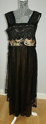 1900's Edwardian Silk Dress