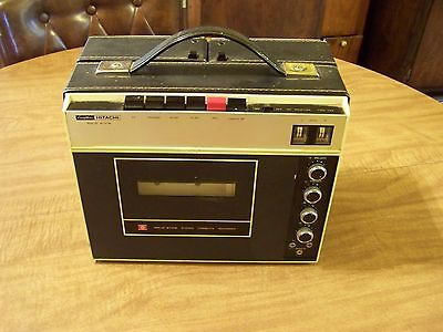 Nice Vintage Hitachi TRQ-222 Portable Stereo Cassette Recorder/Player Complete
