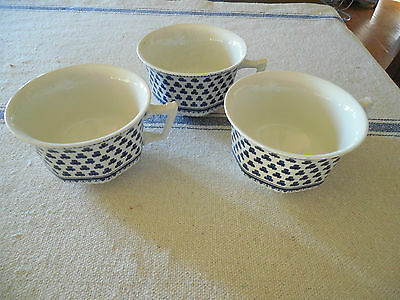 Adams Ironstone Brentwood Blue Cups
