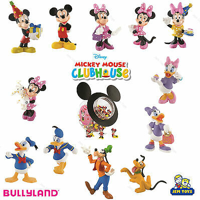 Disney Mickey Mouse Clubhouse Figures Figurines Toy Cake Topper Bullyland Minnie