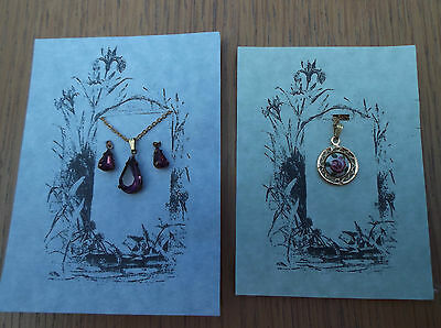 Dolls Jewellery Amethyst Necklace And Earrings Or Pendant