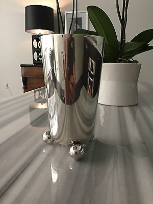 Bauhaus Walter Gropius STYLE Silver Vase Remarkable Condition | Ships Worldwide