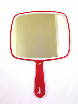 PROFESSIONAL SALON MIRROR- Handheld RED Handle