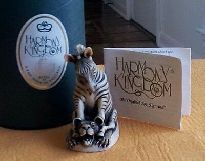 Harmony Kingdom Tjze Drivers Seat Zebra Made In Uk Retired Rare Collectible