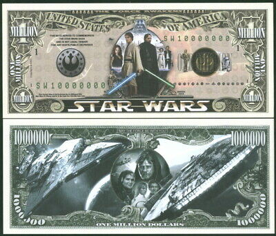 Star Wars Commem. Bill + Earth Occupation Currency Aliens Fantasy Art Notes Unc!