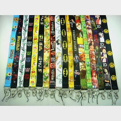 Cartoon Games Anime Disney Lanyard Strap Badge ID Running Cell Holder Key Chains