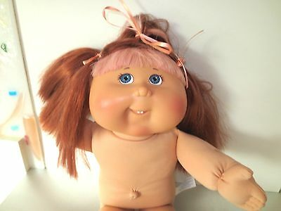 Cabbage Patch Modern PA-22  Red Pink Accent Hair Gray Eyes Teeth NO Clothes  A14