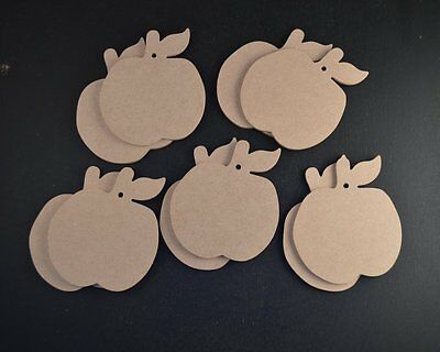 10 X Mdf Best Teacher Wooden Apples Craft Shapes  Ready To Embellish