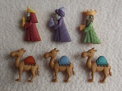 Dress It Up Buttons ~ We Three Kings ~ Camels ~ Kings ~  Christmas ~ Nativity