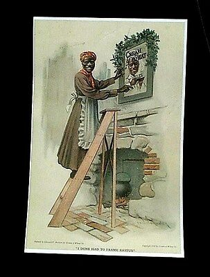 CREAM OF WHEAT ADVERTISEMENT CHRISTMAS 1911 I DONE HAD TO FRAME RASTUS REPRINT