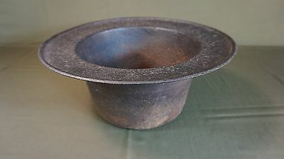 Very Rare Large Korean Joseon Dynasty Solid Iron Fire Vessel 13""