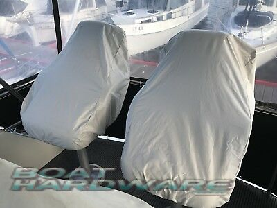 Boat SEAT COVER Helm Bucket or Fixed Back Seat L600xW560xH670mm Large Grey