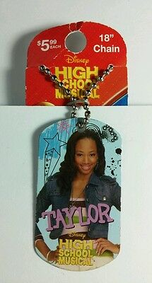 HSM HIGH SCHOOL MUSICAL TAYLOR MONIQUE COLEMAN DOG TAG NECKLACE STOCKING STUFFER