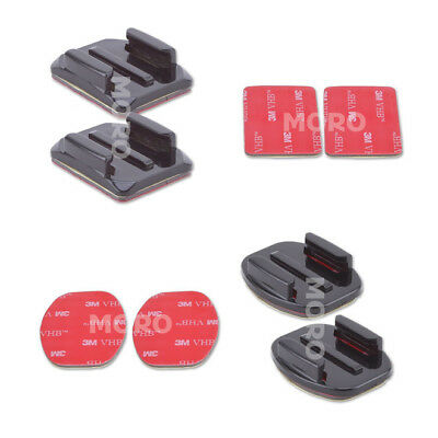 4 Pack Curved and Flat Adhesive Mounts 3M Sticky F GoPro Hero 5,4,3+,3 2 Cameras
