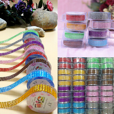 8 Colors Self-Adhesive Acrylic Rhinestones Stick On Scrapbooking Craft Gems HOT