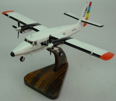 DHC-6-300 Twin Otter Scenic Air Airplane Wood Model Small New