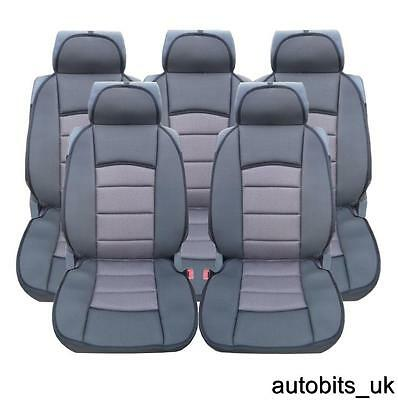 Full Set 5X Grey Premium Comfort Padded Seat Covers 5 Seater Citroen C4 Picasso