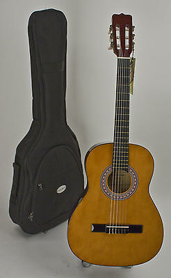 New Acoustic Guitar Quality 3/4 Size Nylon String For Adults Setup For Easy Play