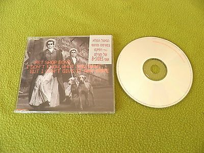 Pet Shop Boys - I Don't Know What You Want But I Can't RARE Israel Israeli Promo
