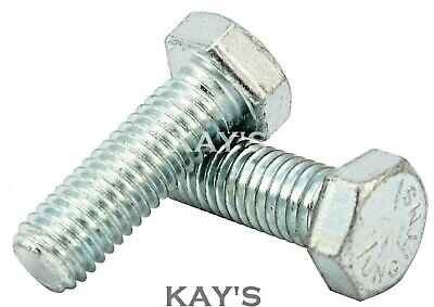 Unc Hexagon Set Screws Fully Threaded Bolts Zinc Plated 1/4,5/16,3/8,7/16,1/2""