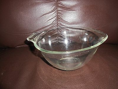 Vintage Pyrex Mixing 3 Cup Measuring Clear Teardrop Bowl with Handle