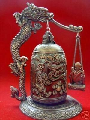 Excellent Tibet Dragon buddha Bell free shipping