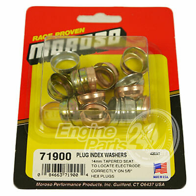 Spark Plug Indexing Washers Tapered 30 Pack 3 Sizes .010 .021 .032 Moroso 71900