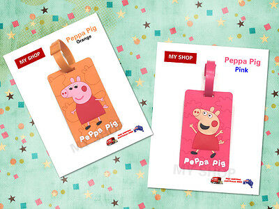 New Peppa Pig Funny Cute Name Tag, Id Lable For Luggage, Suitcase, School Bag