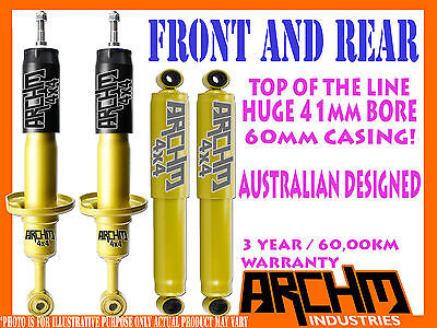 TOYOTA HILUX 4WD 05-ON KUN26/GGN25 F & R 41mm BORE FOAM CELL ARCHM4x4 SHOCKS