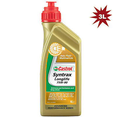 Castrol Syntrax Longlife 75W90 Synthetic Gear Oil - 3Litre