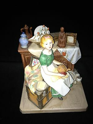 """Norman Rockwell """"Dreams in the Antique Shop"""" Porcelain 1984 Figurine"""