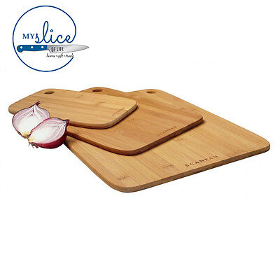 SCANPAN 3 Piece Bamboo Chopping/Cutting Board Set 18191