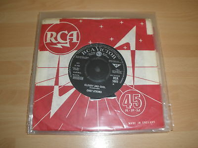 """Chet Atkins 7"""" Cs Cloudy And Cool / Travelin' Rca 1441 """""""
