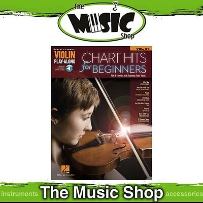 New Chart Hits for Beginners Violin Play Along Book & OLA - Volume 51