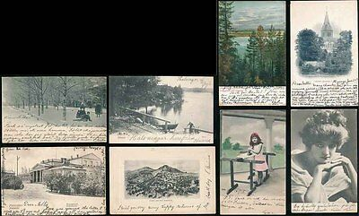 FINLAND 1900s PICTURE POSTCARDS 14 DIFFERENT to NELLIE BROOK