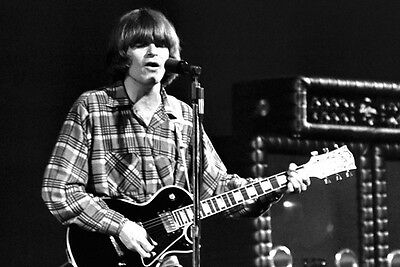 Creedence Clearwater Revival John Fogerty guitar in classic concert 24X36 Poster