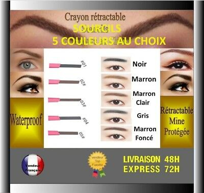 crayon sourcils waterproof maquillage sourcil retractable eyeliner  Tbonne tenue