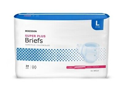 72 - Adult Disposable Brief Diaper, LARGE, Moderate Absorbency - Full Case of 72