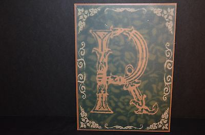 Metal Wall Hanging Plaque With Letter R -New