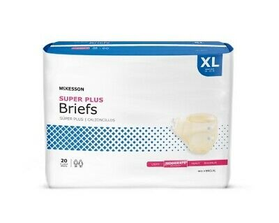 60 - Adult Disposable Brief Diaper, EXTRA LARGE, XL, X-Large - Full Case of 60
