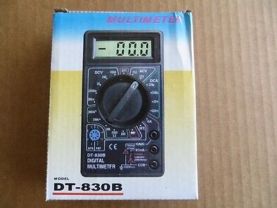 Digital Multimeter for checking AC & DC Volts, DC Amps & Resistance
