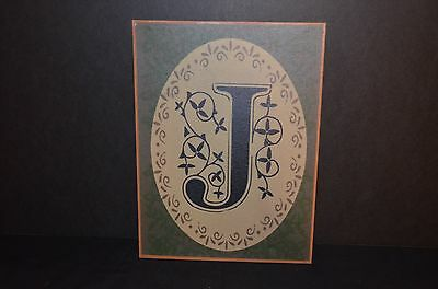 Metal Wall Hanging Plaque With Letter J -New