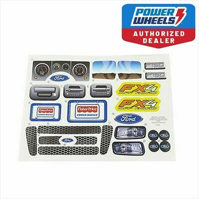 Power Wheels X0069 Ford FX4 F-150 Label Decal Sheet Fisher Price Genuine