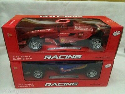 1:18 Scale Red Formula Racing Car F1 Friction Powered Toy In Retail Box New